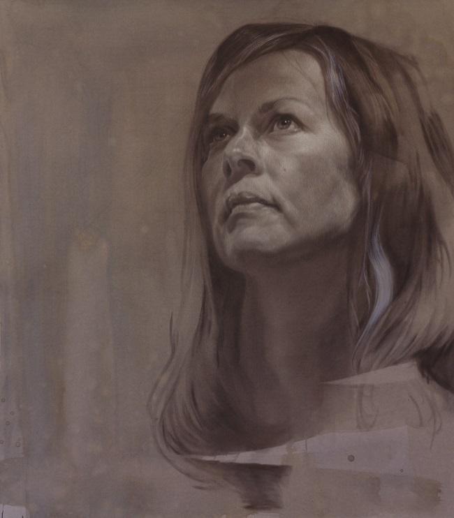 2013-zelfportret-selfportrait-jennifer koning-charcoal