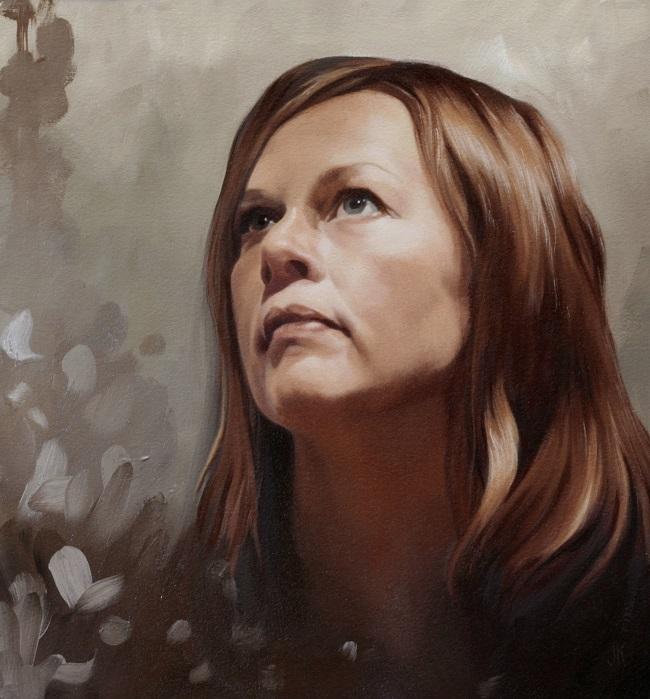 2013-zelfportret in olieverf-selfportrait-jennifer koning-oilpainting