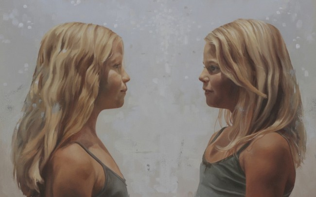 2014-mensen portretten-geschilderd kinder portret-jennifer koning-zusjes 5