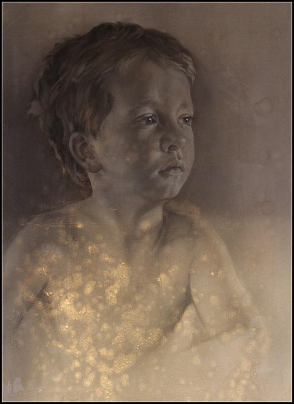 portret in houtskool