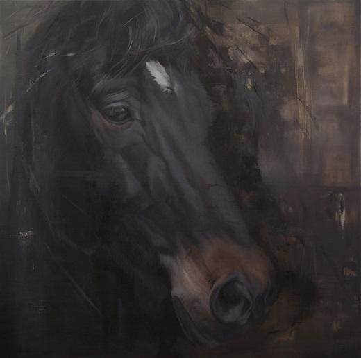 geschilderd paardenportret