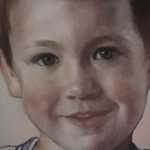 koning pastel portret kind