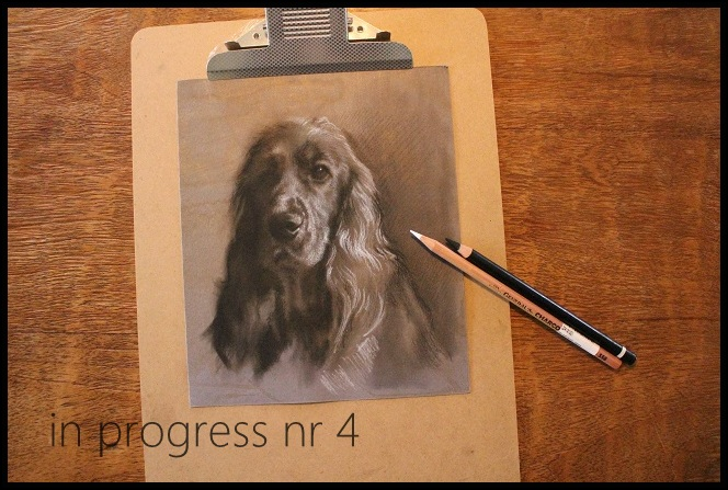 stap4 charcoal drawing in progress