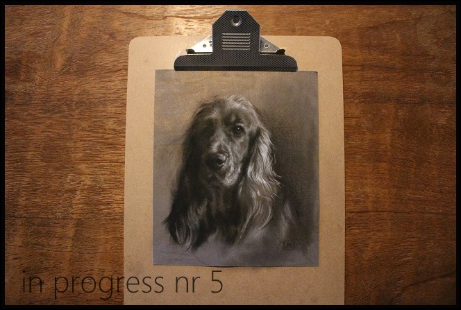 stap5 charcoal drawing in progress