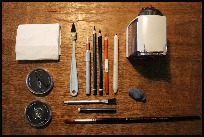2015-tekenmaterialen-charcoal drawing supplies- koning