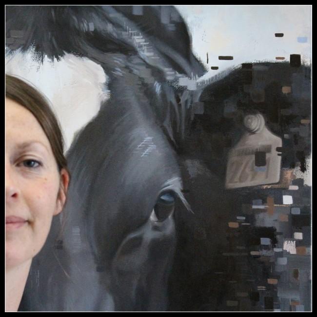 2016-koeienportret-cowportrait-koning- famke in progress
