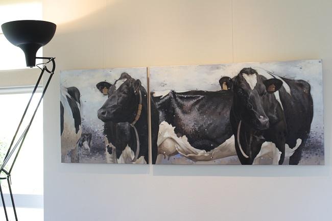 2016-koeienschilderij-tweeluik-jennifer koning-stella,baukje en de rest