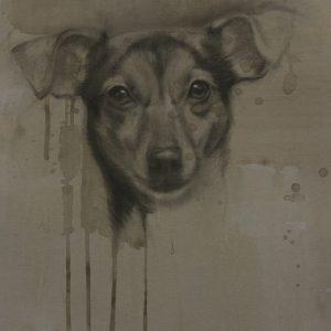 kaart hond - jack russell - kunst hondenkunst - jennifer koning - miss ayo