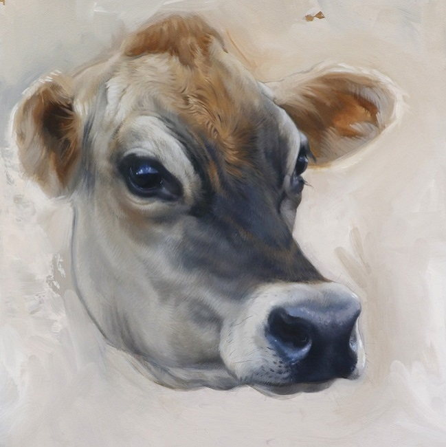 schilderij van koe Lotje - jersey koeien - schilderijen - jennifer koning