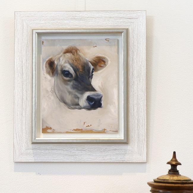 schilderij koe ingelijst