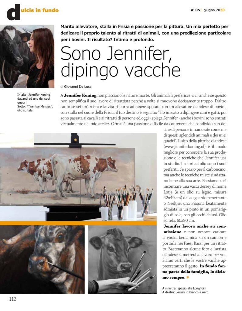 allevatori top -artikel over mijn koeienschilderijen