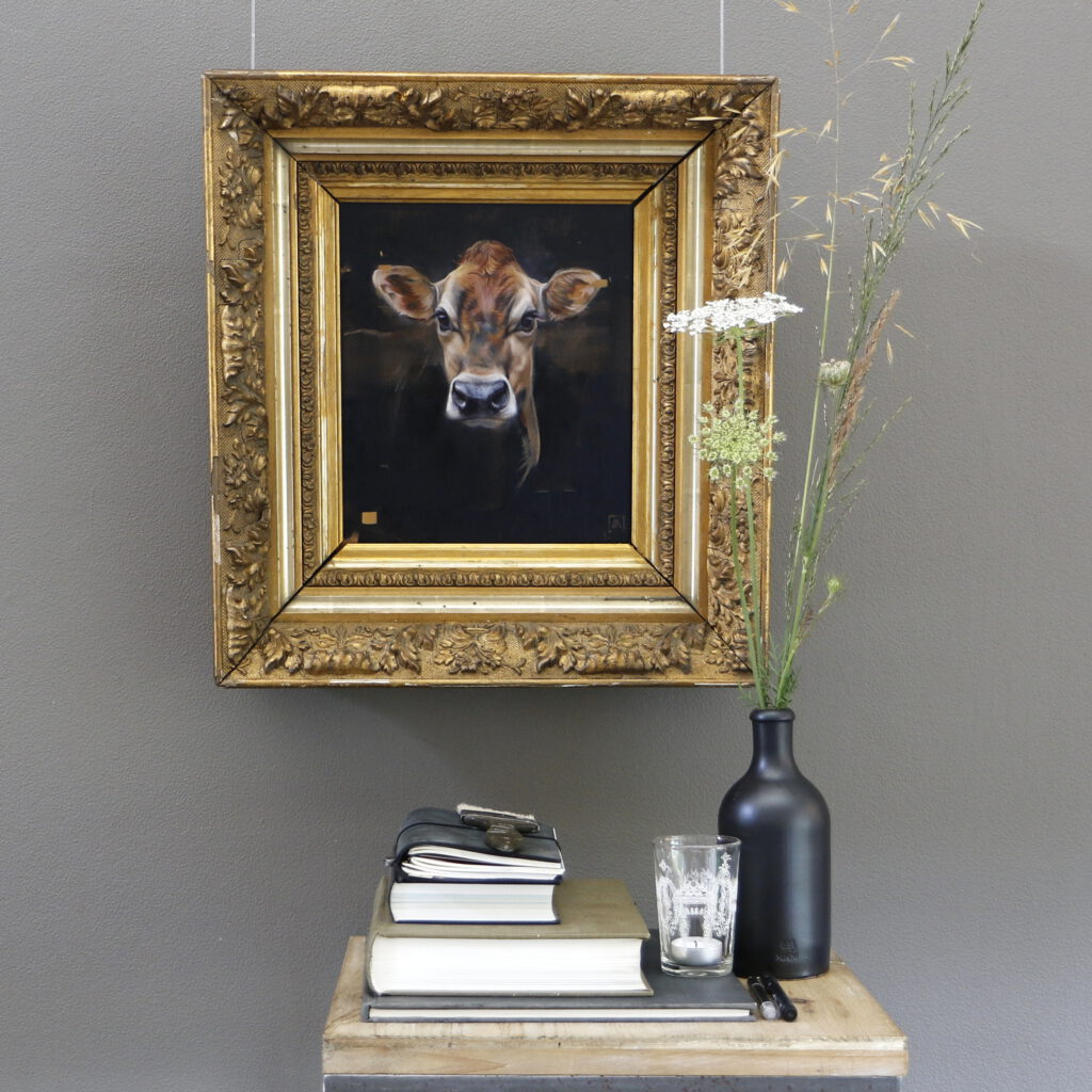 jersey ella olieverf - antieke lijst - jersey oilpainting in antique frame - koning