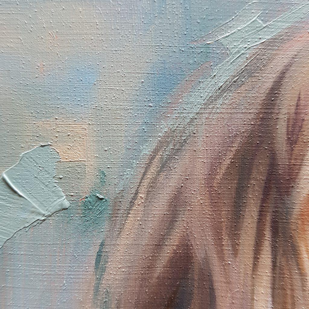 notities van kleur 2 olieverf closeup